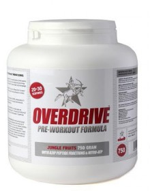 Overdrive pre-workout formula from Eiselt
